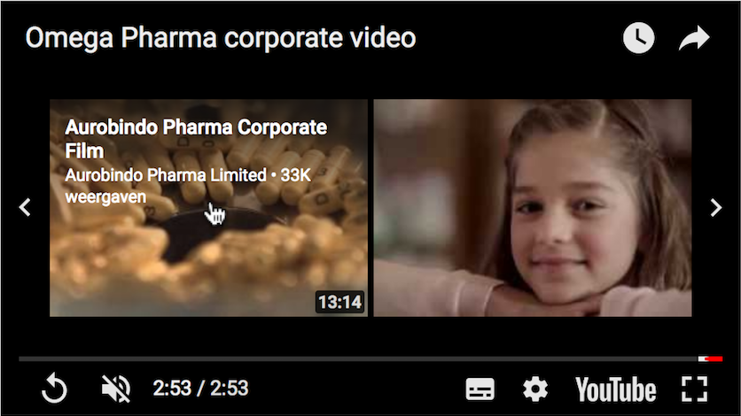 Omege Pharma Corporate Youtube Related Videos